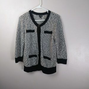 Ann Taylor Knitted Sweater Cardigan Size Large --X